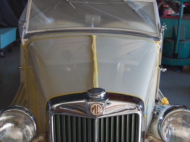MG車磨き