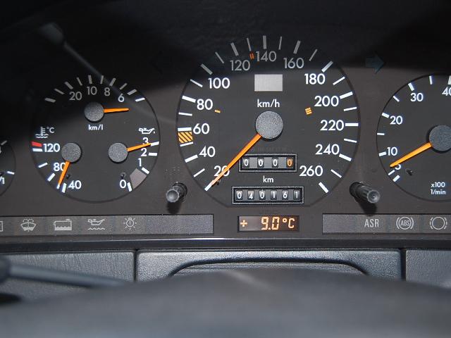 メルセデス・ベンツS500メーター