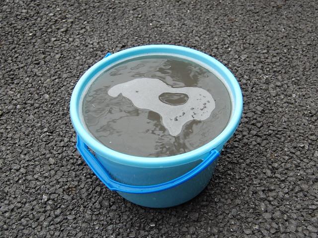 プリウス車内の汚れバケツ一杯